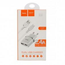 ADAPTADOR 220V + USB C 2.4A C12 BLANCO