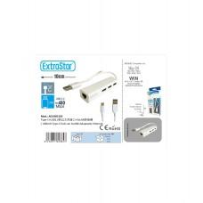 ADAPTADOR USB + TIPO C A RJ45 -