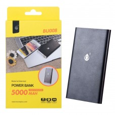 POWER BANK 5000mAh BU008 NEGRA