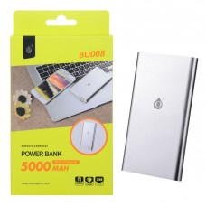 POWER BANK 5000mAh BU008 PLATA