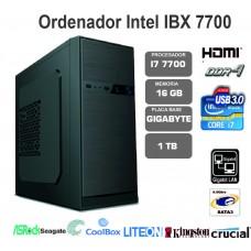 IBX  i7 7700-16GB-1TB-LT