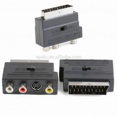 CONVERSOR EURO CONECTOR - 3 RCA