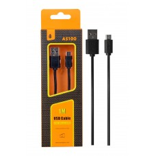 CABLE USB - MICRO USB 0,8 MT NEGRO