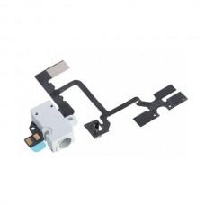 Flex con conector jack audio blanco + control volumen iphone 4s blanco