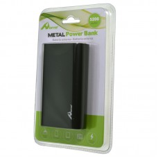 POWER BANK 5200mAh METAL NEGRO