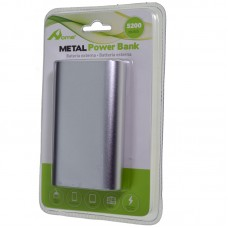 POWER BANK 5200mAh METAL PLATA